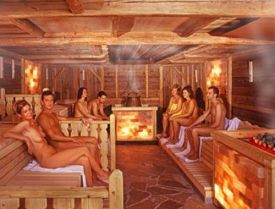 Image result for naked sauna