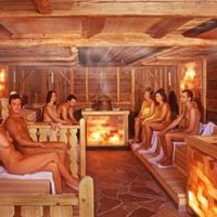 Nudist idea #56: Go to a naked sauna